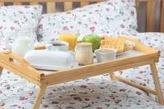 Breakfast on a bed Royalty Free Stock Photo
