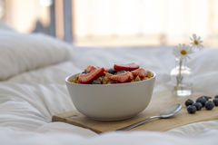Breakfast on the bed Royalty Free Stock Photos