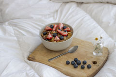Breakfast on the bed Stock Image