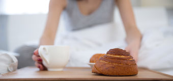 Breakfast in the bed Royalty Free Stock Images