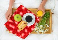 Breakfast in bed. Stock Image