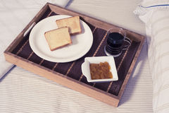 Breakfast at bed stock image