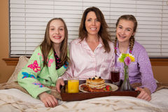 Breakfast in bed for Mom Stock Images