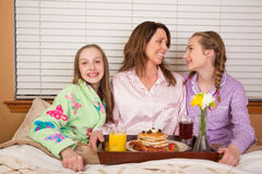 Breakfast in bed for Mom Royalty Free Stock Image