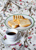 Breakfast at bed Royalty Free Stock Image