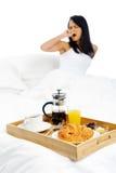 Breakfast in bed service Stock Image