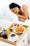 Breakfast in bed service Stock Photos