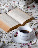 Breakfast at bed Stock Photography