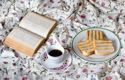 Breakfast at bed Royalty Free Stock Photos