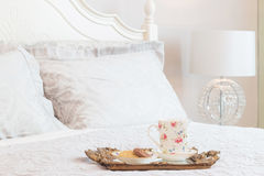 Breakfast on bed Royalty Free Stock Photography
