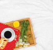 Breakfast in bed. Stock Photos