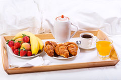Breakfast in bed Stock Photography
