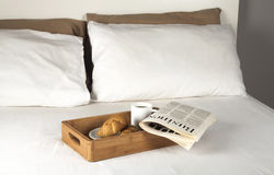 Breakfast on bed Royalty Free Stock Image