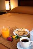 Breakfast in the bedroom Stock Images