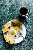 Breakfast in the beginning Royalty Free Stock Photo