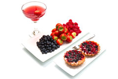 Breakfast with berries Royalty Free Stock Photography