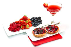 Breakfast with berries Royalty Free Stock Image