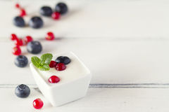Breakfast with berries Stock Photography
