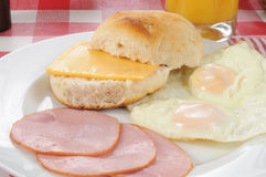 Breakfast biscuit Stock Photos