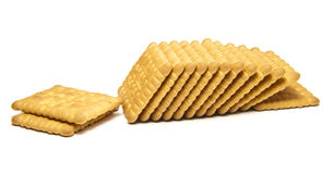 Breakfast Biscuit. On White Background Royalty Free Stock Image