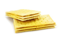Breakfast Biscuit. On White Background Royalty Free Stock Photography