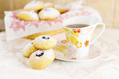 Breakfast with biscuits Stock Images