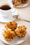 Breakfast: Black tea with pastries Royalty Free Stock Images