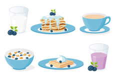 Breakfast with blueberries Stock Photo
