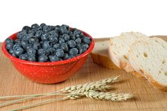 Breakfast Blueberries Stock Image