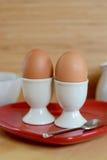 Breakfast Boiled eggs Stock Photo