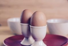 Breakfast Boiled eggs Royalty Free Stock Image