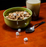 Breakfast bowl of cereal Royalty Free Stock Photos