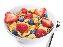 Breakfast bowl fresh fruits Stock Photos