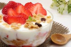 Breakfast bowl with yogurt, granola or muesli Royalty Free Stock Photo