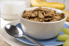 Breakfast Bran Flakes Stock Photography