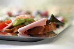 Breakfast Bread. Close-up shot of sandwich Stock Image