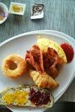 Breakfast bread bacon food Stock Photo