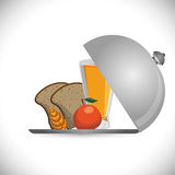 Breakfast bread juicy apple wheat catering Stock Photography