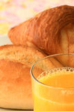 Breakfast bread orange juice 3 Royalty Free Stock Photo