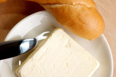 Breakfast with bread roll and   butter Stock Photography