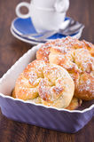 Breakfast with brioches. Royalty Free Stock Images