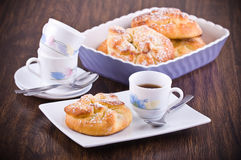 Breakfast with brioches. Royalty Free Stock Photography