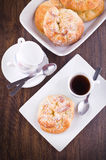 Breakfast with brioches. Stock Image
