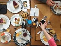 Breakfast, Brown, Café Stock Photography