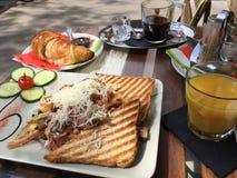 French breakfast stock photo
