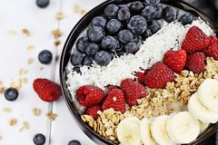 Breakfast Buddha Bowl with Berries Royalty Free Stock Photos