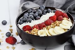 Breakfast Buddha Bowl with Fresh Berries Stock Photography