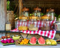 Breakfast buffet at luxury resort stock photography