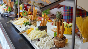 Breakfast Buffet in Luxury Restaurant Stock Images