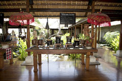 Breakfast buffet in Resort, Bali royalty free stock photos